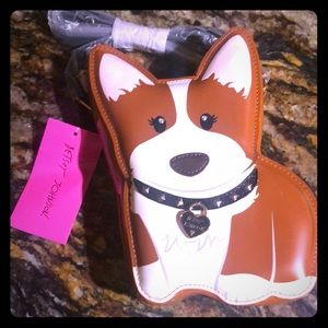 Betsey johnson corgi purse new with tags